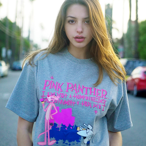 [PPXHB] Pink Panther and White Man T-Shirt - Gray