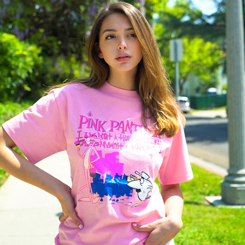 [PPXHB] Pink Panther and White Man T-Shirt - Pink
