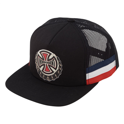[INDEPENDENT] THE ONLY CHOICE FLEX FIT TRUCKER MESH CAP - Black