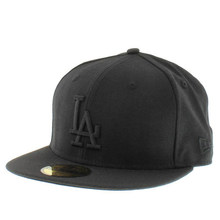 LosAngeles Dodgers Custom 59 Fifty Fitted Cap (All Black)