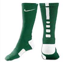 Nike Elite Basketball Crew Socks -Gre/Wht-