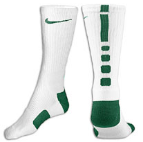 Nike Elite Basketball Crew Socks -Wht/Gre-