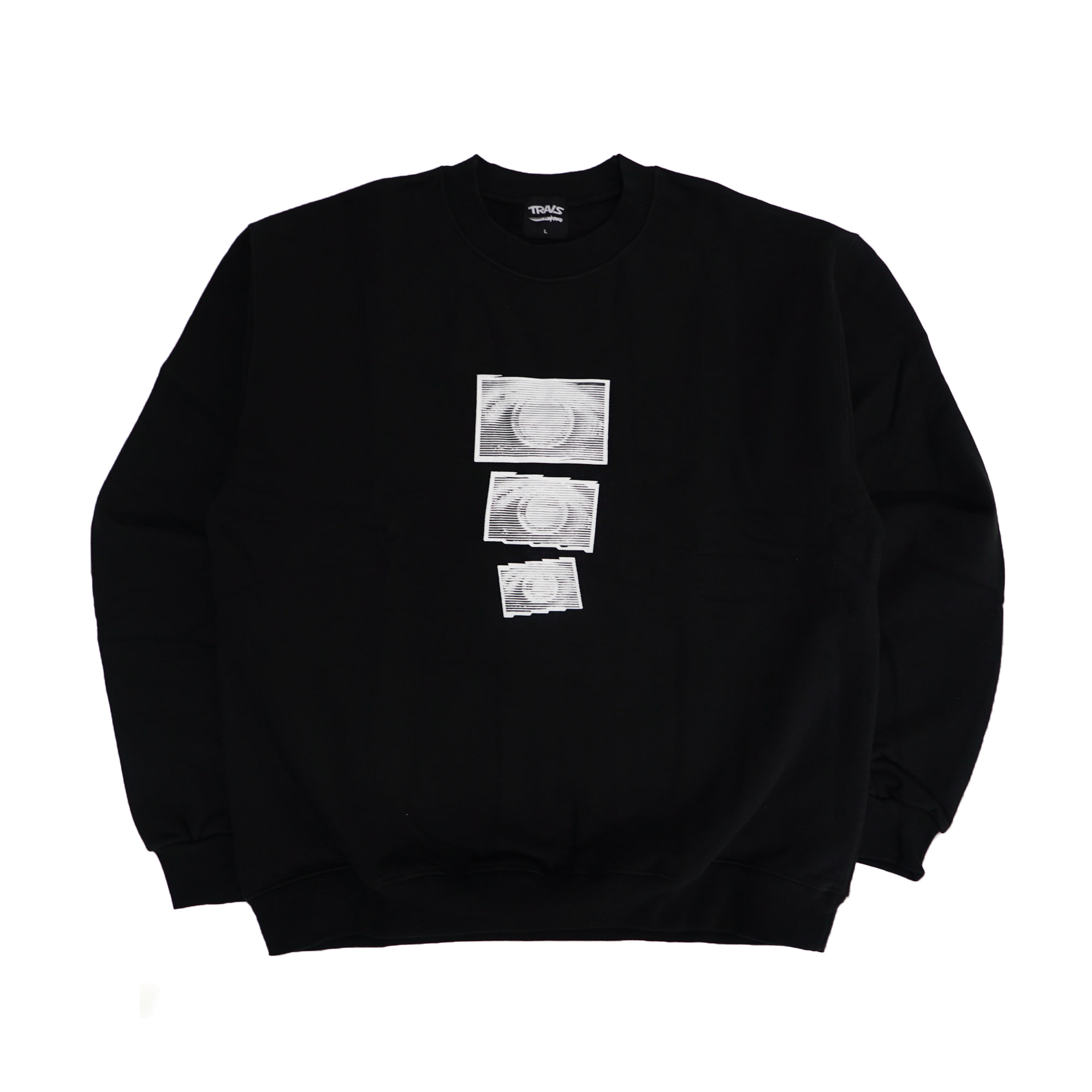 [TRAVS] TRAVS EYES CREWNECK SWEATSHIRTS - BLACK